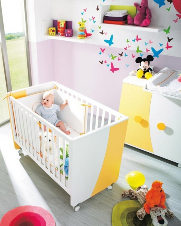 Baby Girl Nursery Themes Colorful And Fresh Decoration Images