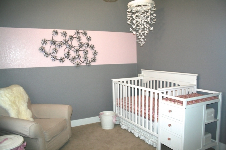 Baby Girl Nursery Themes Grey Color Decorating Idea Not Pink Interior Design Image