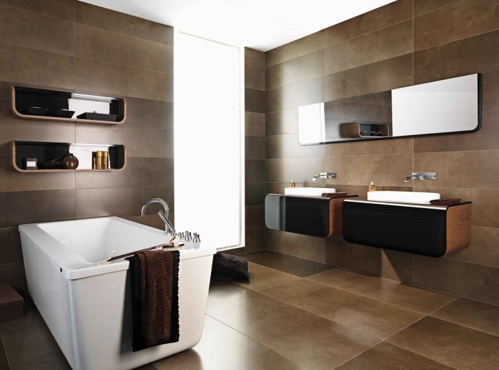 Bathroom Ceramic Wall Tiles Durable Design With Natural Stone Accent Photos