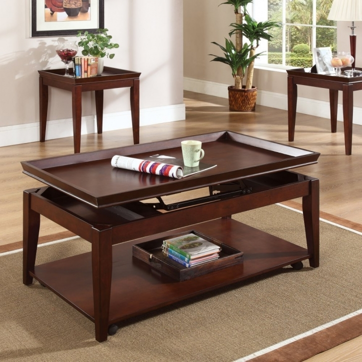 Contemporary Coffee Tables With Storage Lift Top With Wood Material And Cream Rug Ideas Picture