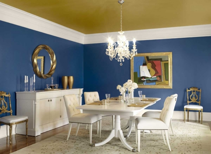 Dining Room Paint Colors Blue Wall Decor Photos