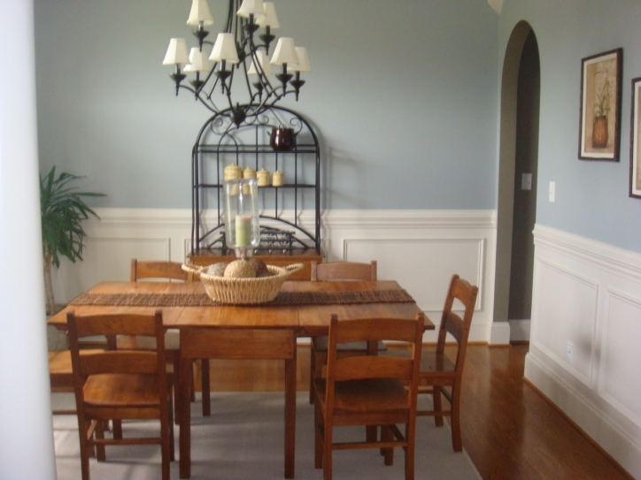 Dining Room Paint Colors White And Gray Color Shceme With Wooden Table And Chair Furniture Ideas Photo