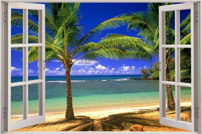 Extraordinary Removable Wall Murals Beach Room Decor Wall Mural Decals Photo