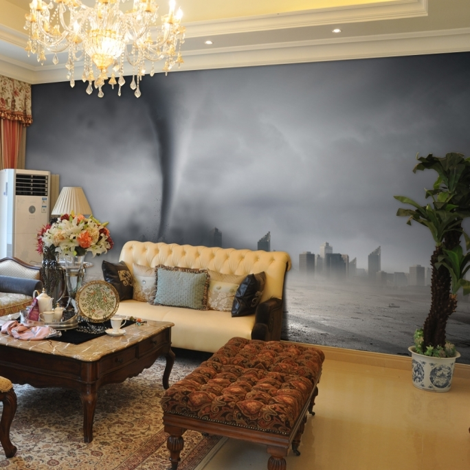 Fantastic Removable Wall Murals HQ Modern Design Tornado 3D Removable Wall Mural Wallpaper Decorations  Image