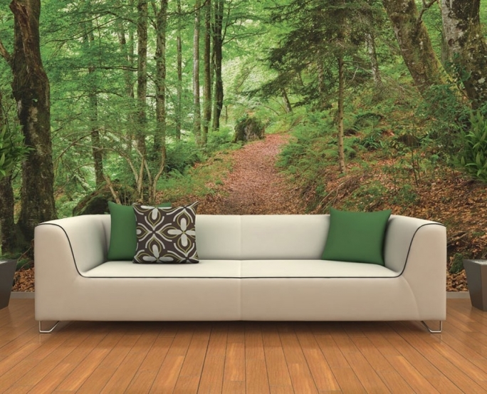 Fascinating Removable Wall Murals Forest Wall Mural Ideas Living Room Wall Decoration Picture