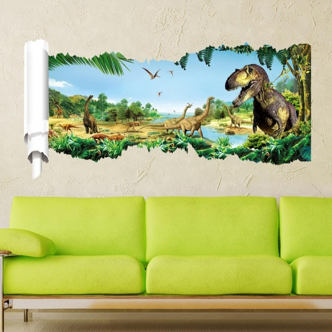Jurassic World Room 3d Jurassic World Park Dinosaurs Wall Stickers Photo