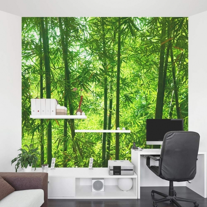 Marvelous Removable Wall Murals Bamboo Forest Mural Office Pic