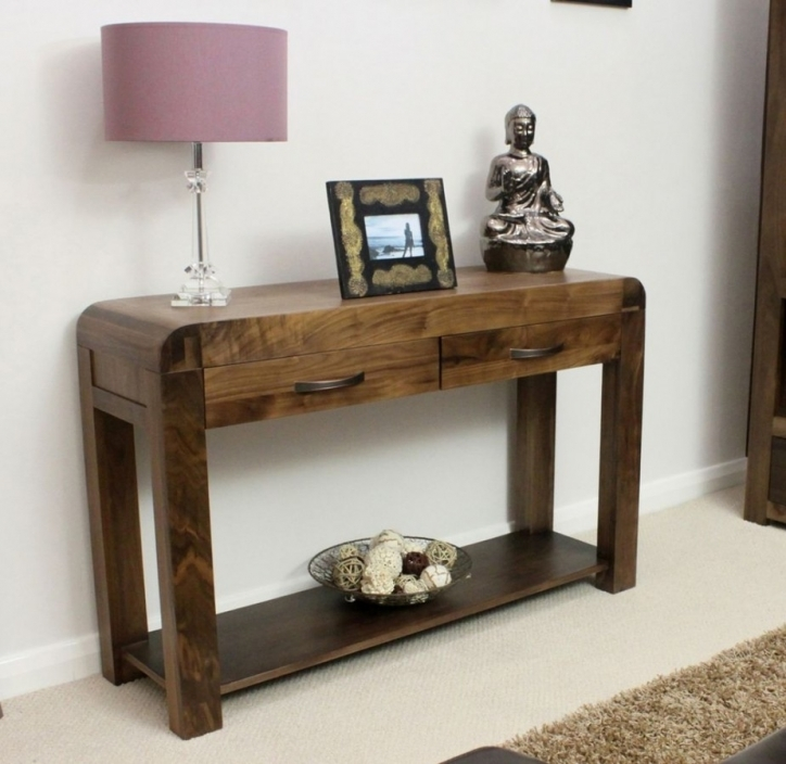 Narrow Hall Table Furniture With Oak Console Table And Drawers Pics