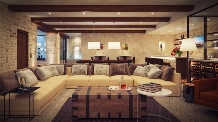Rustic Living Room Paint Colors Modern Decorating Ideas Photo