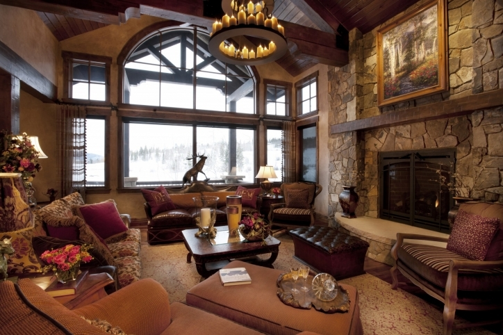 Rustic Living Room Paint Colors Modern Decoration Picture