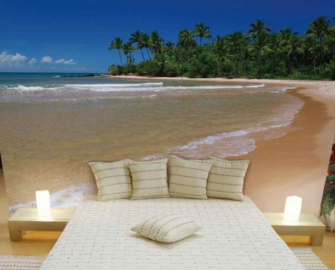 Stunning Removable Wall Murals Tropical Wall Mural Ideas For Beach Bedroom Decor Photos