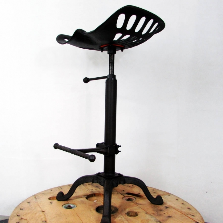 Tractor Seat Bar Stools Traditional Metal Black Color Pic