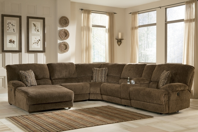 Ashley Furniture Sectional Sofas Reclining Fabric Sectionals Picture