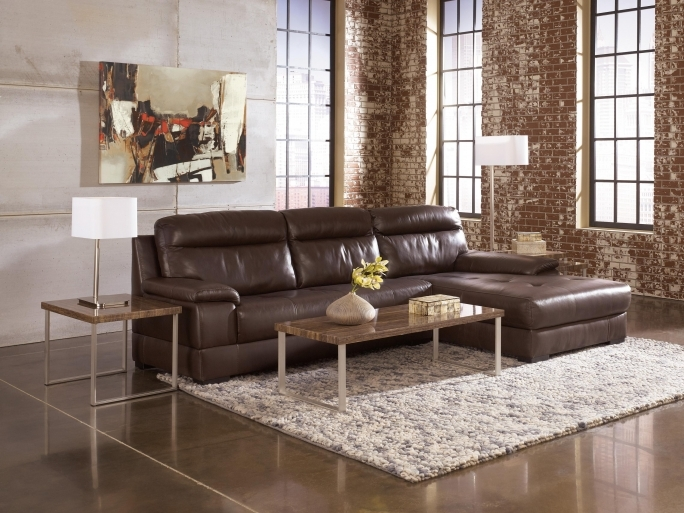 Ashley Furniture Sectional Sofas With Modern Table Lamp On Side Table Images