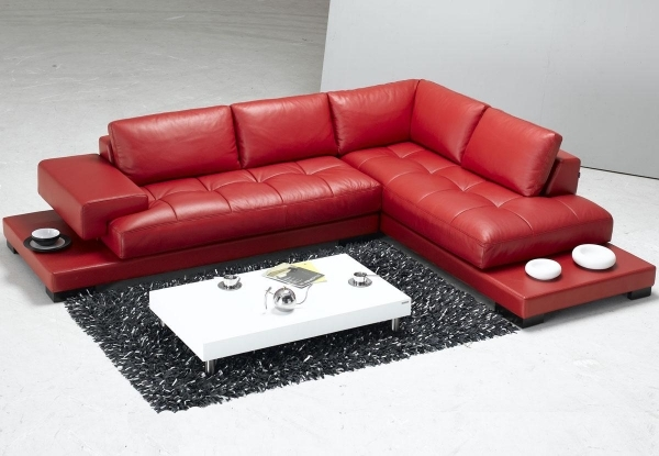 Contemporary Leather Sofa|Contemporary Leather Sofa|Contemporary Leather Sofas|Modern Leather Sofas| Living Room Design Red Ikea Leather Sofa With White Coffee Table And Gray Shag Rugs 25