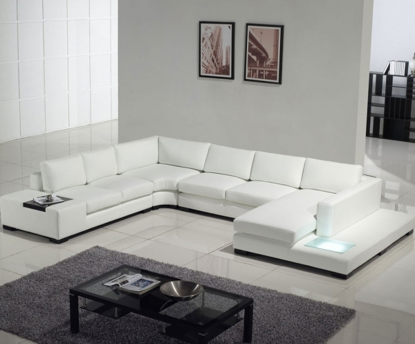 Contemporary Leather Sofa|Contemporary Leather Sofa|Contemporary Leather Sofas|Modern Leather Sofas| White Sectional Furniture For Living Room Deocration 29