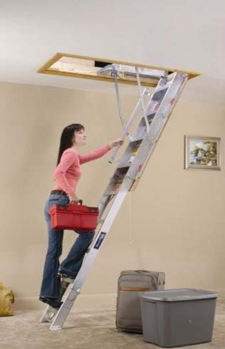 Pull Down Attic Stairs Ladder Image