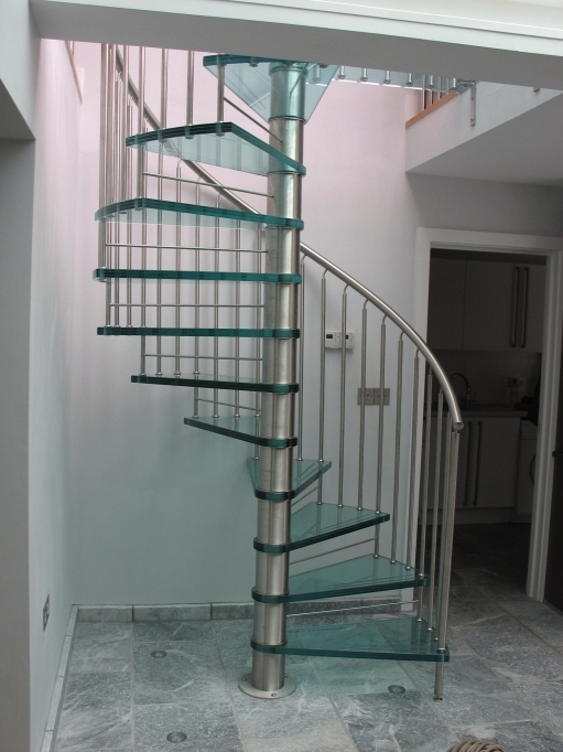 Spiral Staircase Dimensions Bespoke Glass Spiral Staircase Ideas Pic