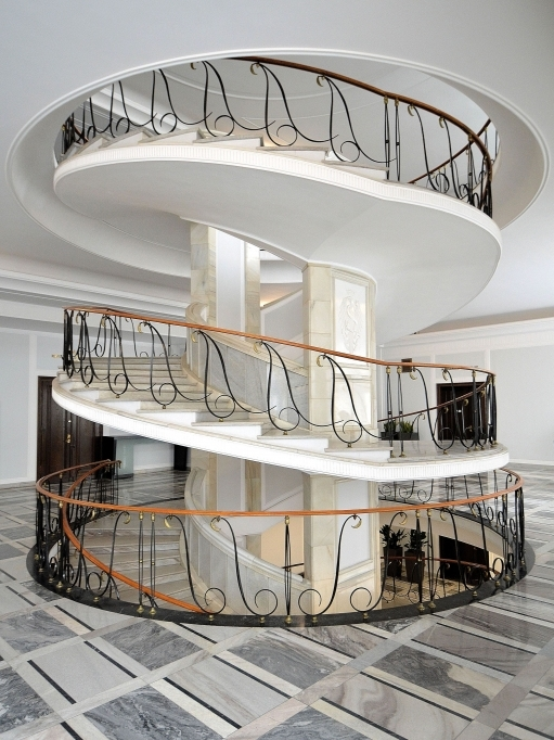 Spiral Staircase Dimensions Oval Staircase Polish Senate Warsaw Wikimedia Photo