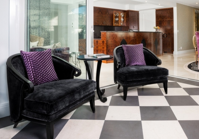 Art Deco Furniture Style Reproductions Influenced Tub Chairs With Curved Back Photo