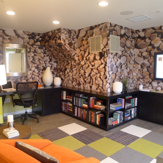 Bookshelf Decorating Ideas For Home Office Contemporary Design Picture