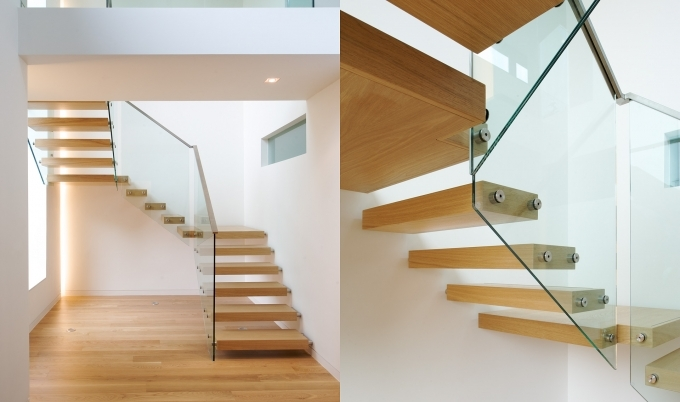 Floating Stairs Construction Folded Ii Tintab Contemporary Bespoke Design Picture