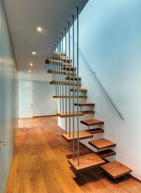 Floating Stairs Construction Ideas Decoration Wooden Floating Staircase Designs With Iron Banister Photo