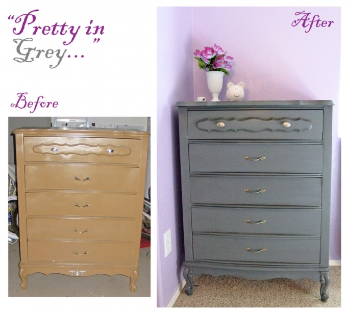 Painted Bedroom Furniture Before And After Gray Dresser Ideas Pics