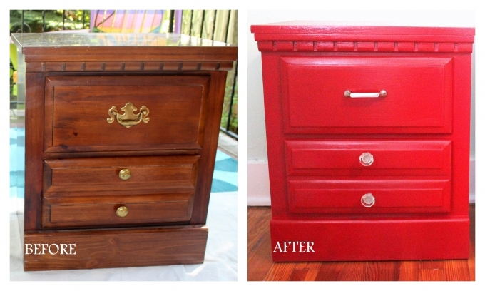 Painted Bedroom Furniture Before And After Red Color Pics