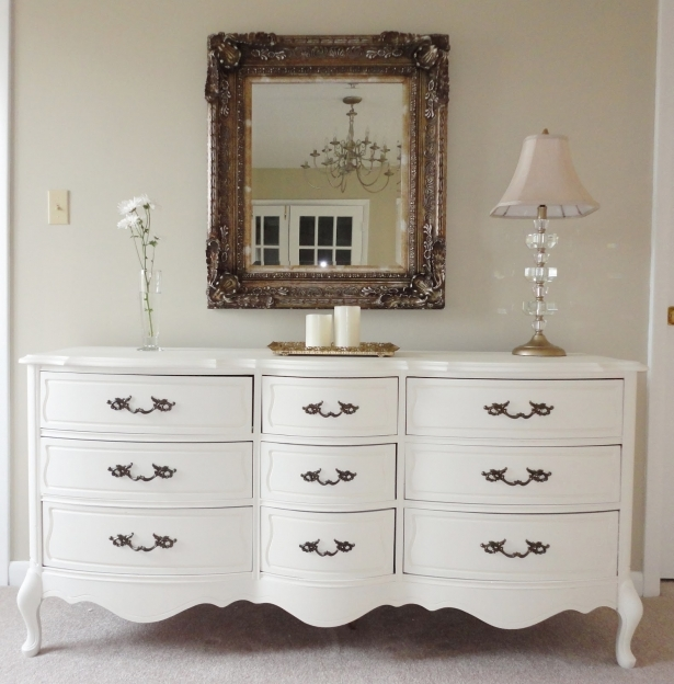 Painted Bedroom Furniture Chic Bedroom Dresser Mirror White Makeover Images