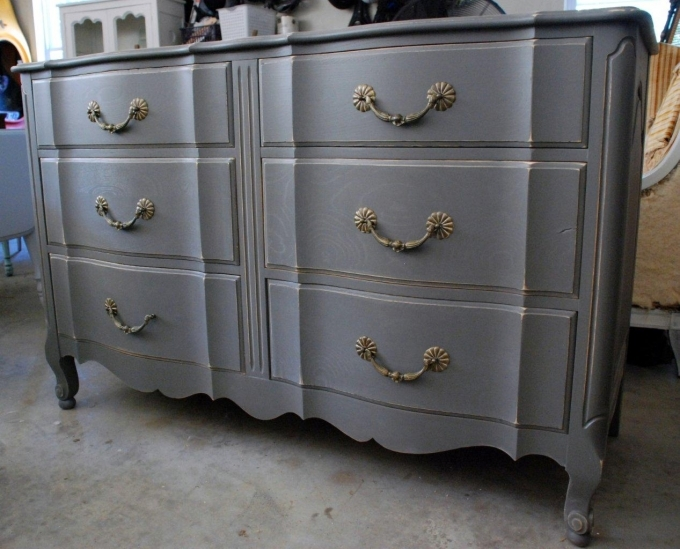Painted Bedroom Furniture Gray Traditional Furnishing Picture