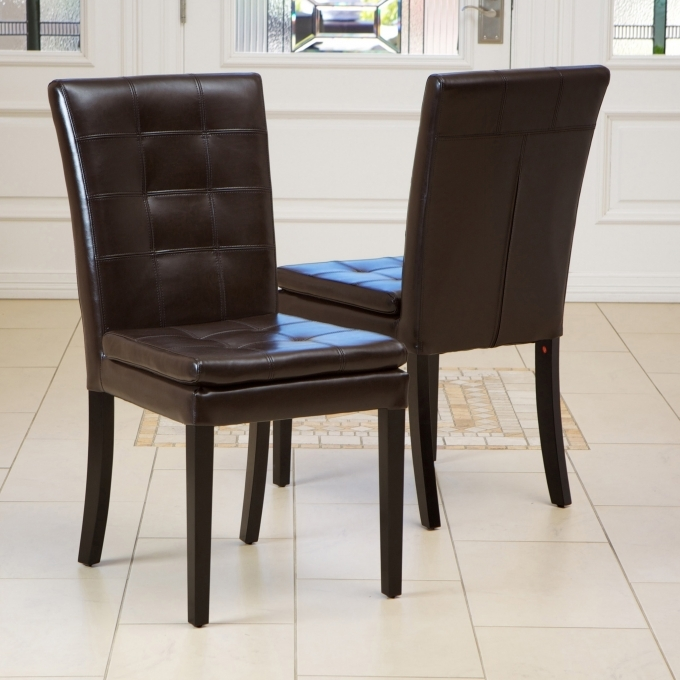 Vintage Brown Leather Dining Chair Barrington Image