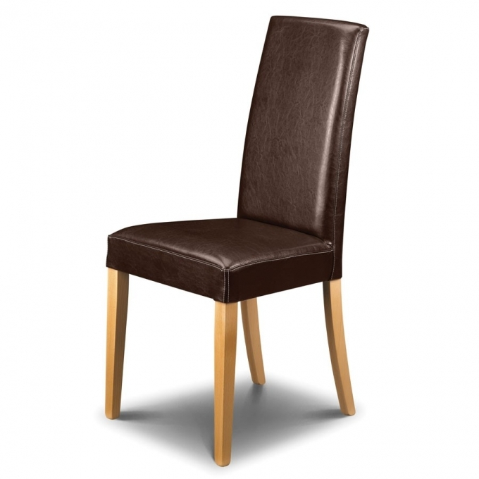 Vintage Brown Leather Dining Chair Dining Room Furniture Design Pictures