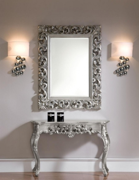 Mirrored Hallway Furniture Console Table Mirror Picture