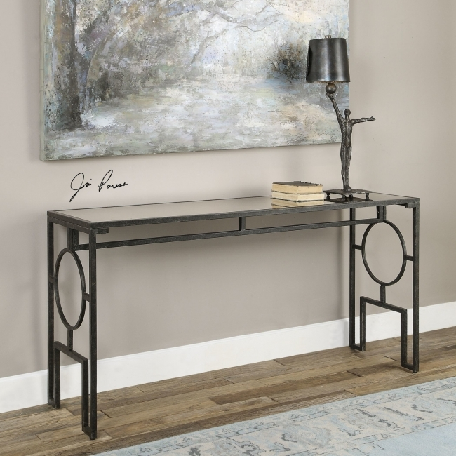 Mirrored Hallway Furniture Jabrell Mirror Console Table Picture