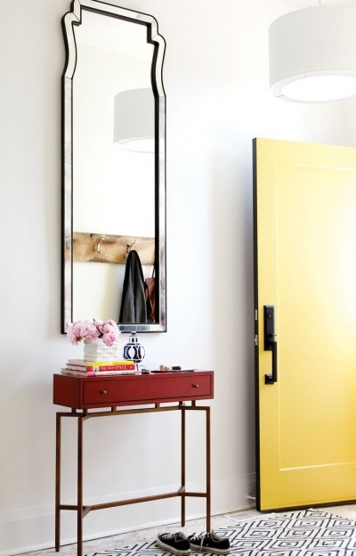 Mirrored Hallway Furniture Love The Tall Art Deco Mirror And Small Entry Table Images