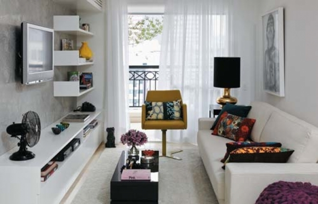 Small Space Living Room With Contemporary Decorating Ideas  Pics
