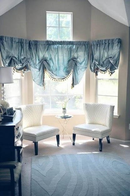 Magnificent Contemporary Window Treatments For Bay Windows Drapes Simple And Effective Pictures