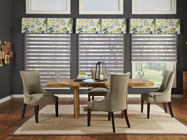 Peaceful Contemporary Window Treatments For Bay Windows Architecture Designs Images