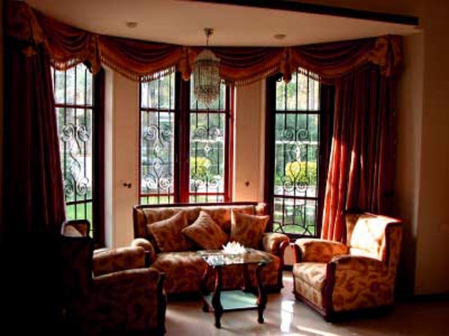 Sensational Contemporary Window Treatments For Bay Windows In Living Room Renovation Ideas Image