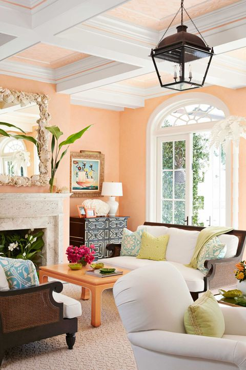 peach living room